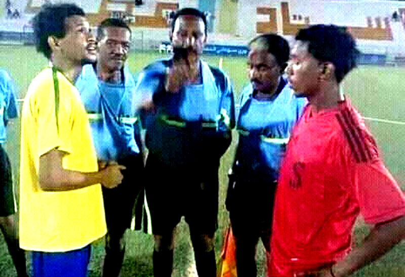 Father Referees match between rival teams captained by his own sons