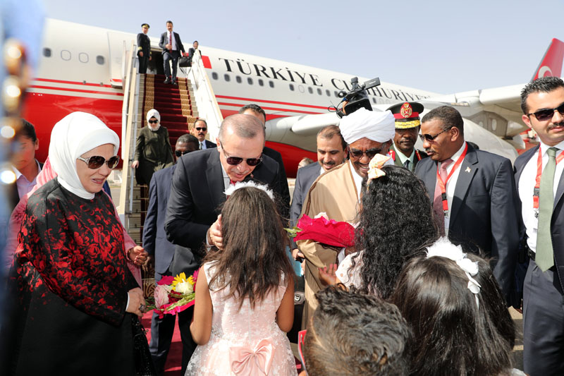 President Erdogan Of Turkey Arrives In Khartoum