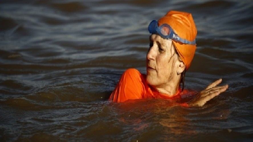 Ambassador Braves Risky Blue Nile Waters To Encourage Safe Swimming