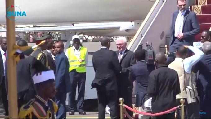 German President Frank-Walter Steinmeier Arrives In Khartoum