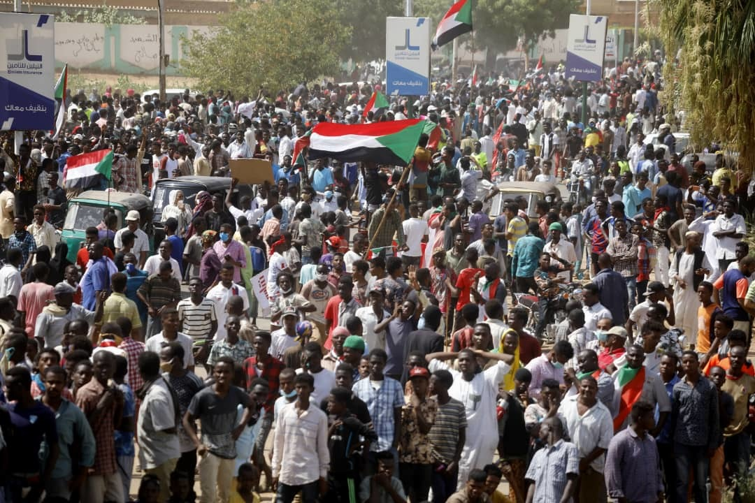 Sudanese Protesters Roar Through The Streets Demanding More Reforms