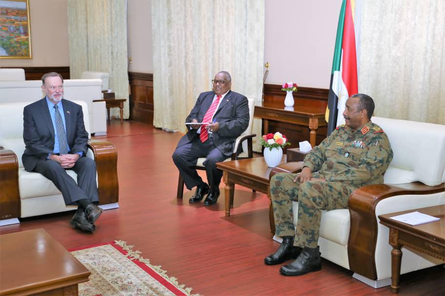 American high ranking officials meet lt. Gen. Al Burhan
