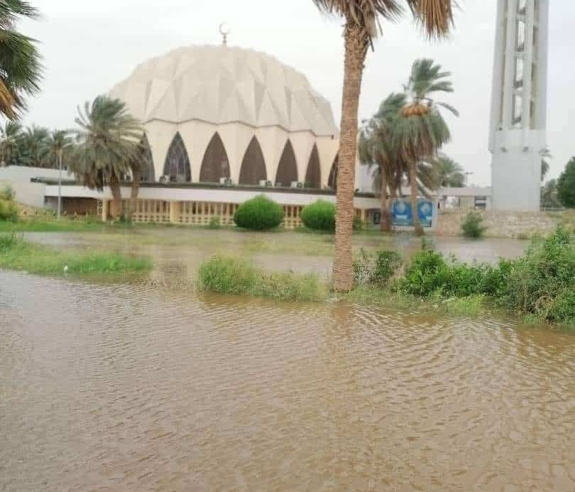 Nile Flood Inundates Alneelain Mosque
