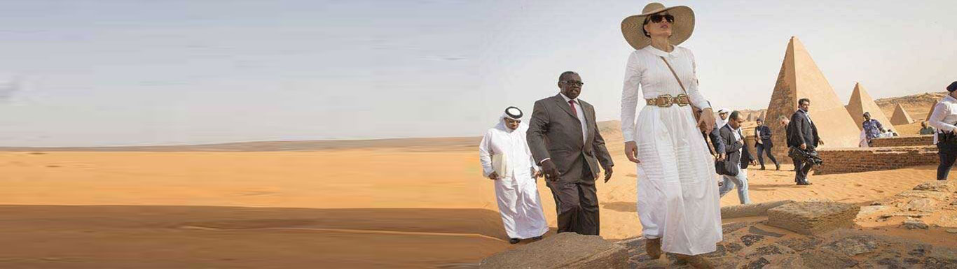 H H Sheikha Moza of Qatar Visits the Pyramids of Sudan in the Historic City of Meroe