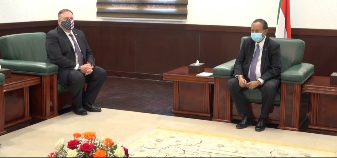 Prime Minister Hamdok Confers With US Secretary Of State Pompeo