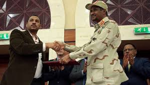 Sudanese Constitutional Declaration Document Initialed By Rivals In Khartoum