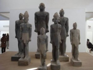 Statutes of the Black Pharaohs (Kerma kings) discovered by the prominent Swiss archeologist Charles Bonnet